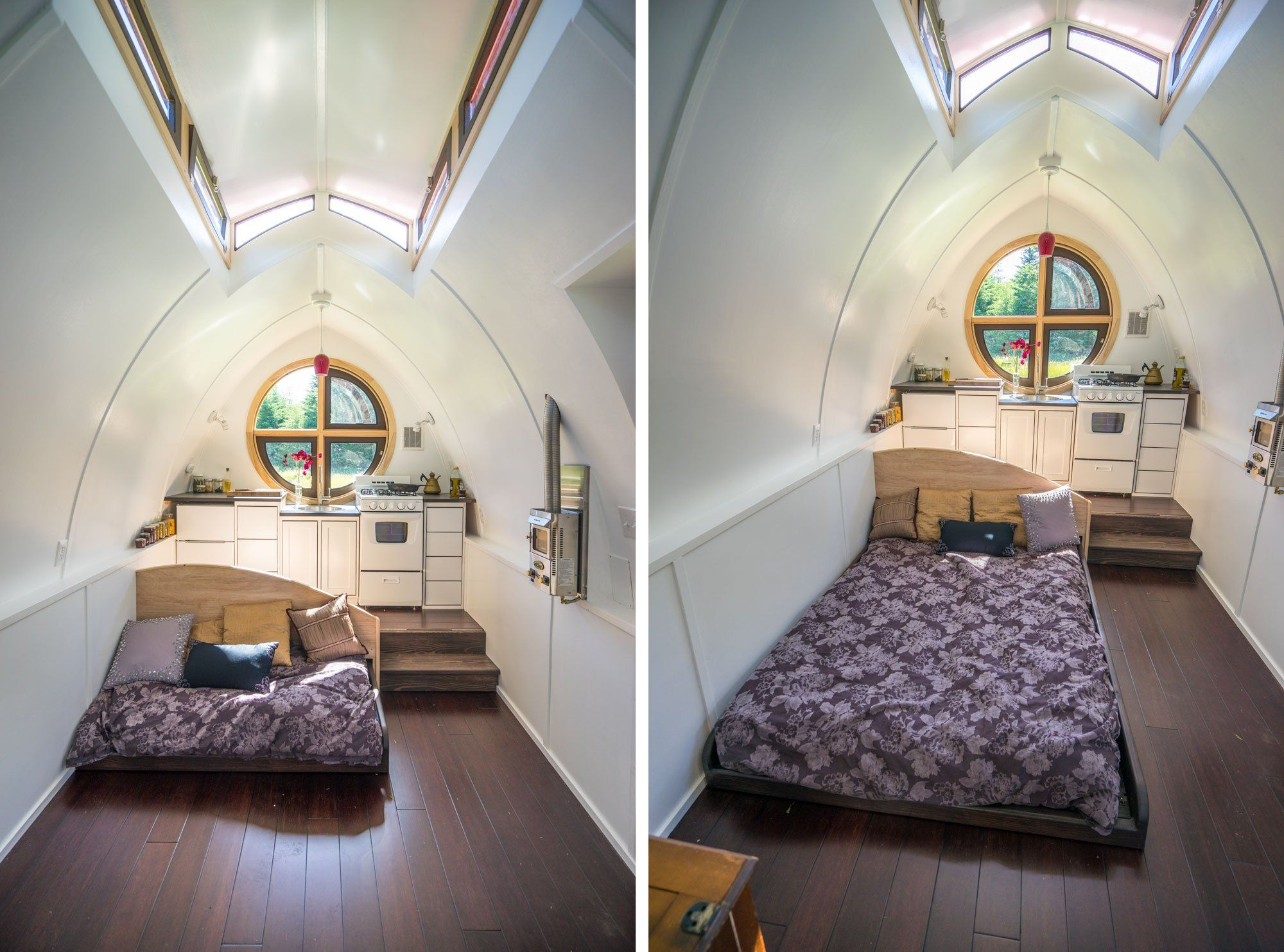 3 bedroom loft house  DewDropTinyHousePullOutBed  tiny loft spaces