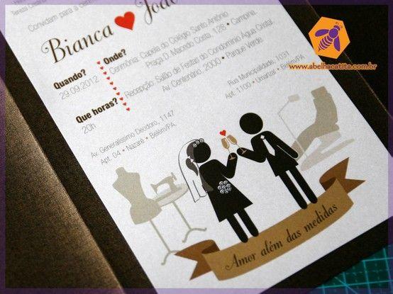 pictogramas em convite de casamento wedding invite