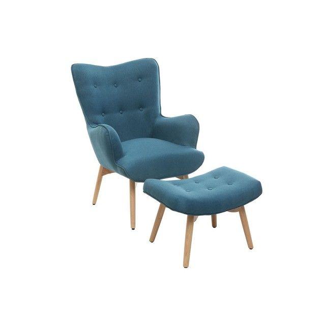 fauteuil design scandinave son repose pied bois bristol miliboo affirmez votre style avec ce magnifique fauteuil - Fauteuil Scandinave Avec Repose Pied