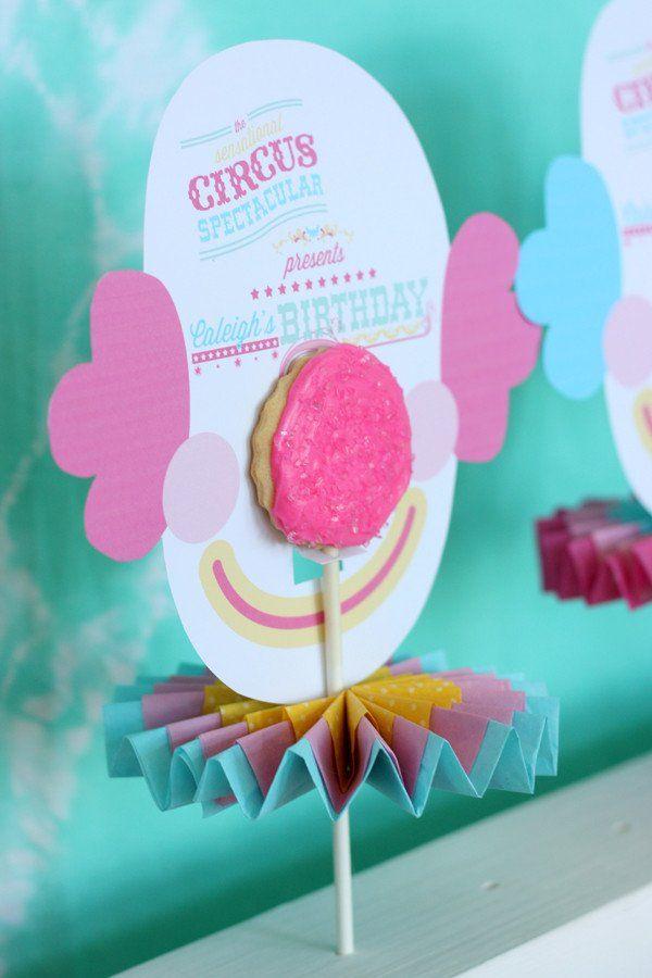 Cotton Candy Girl Circus printable Collection | Bebe y Fiestas