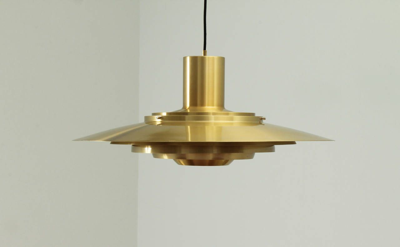 Large Pendant Lamp in Brass by Fabricius & Kastholm | From a unique collection of antique and modern chandeliers and pendants  at https://www.1stdibs.com/furniture/lighting/chandeliers-pendant-lights/
