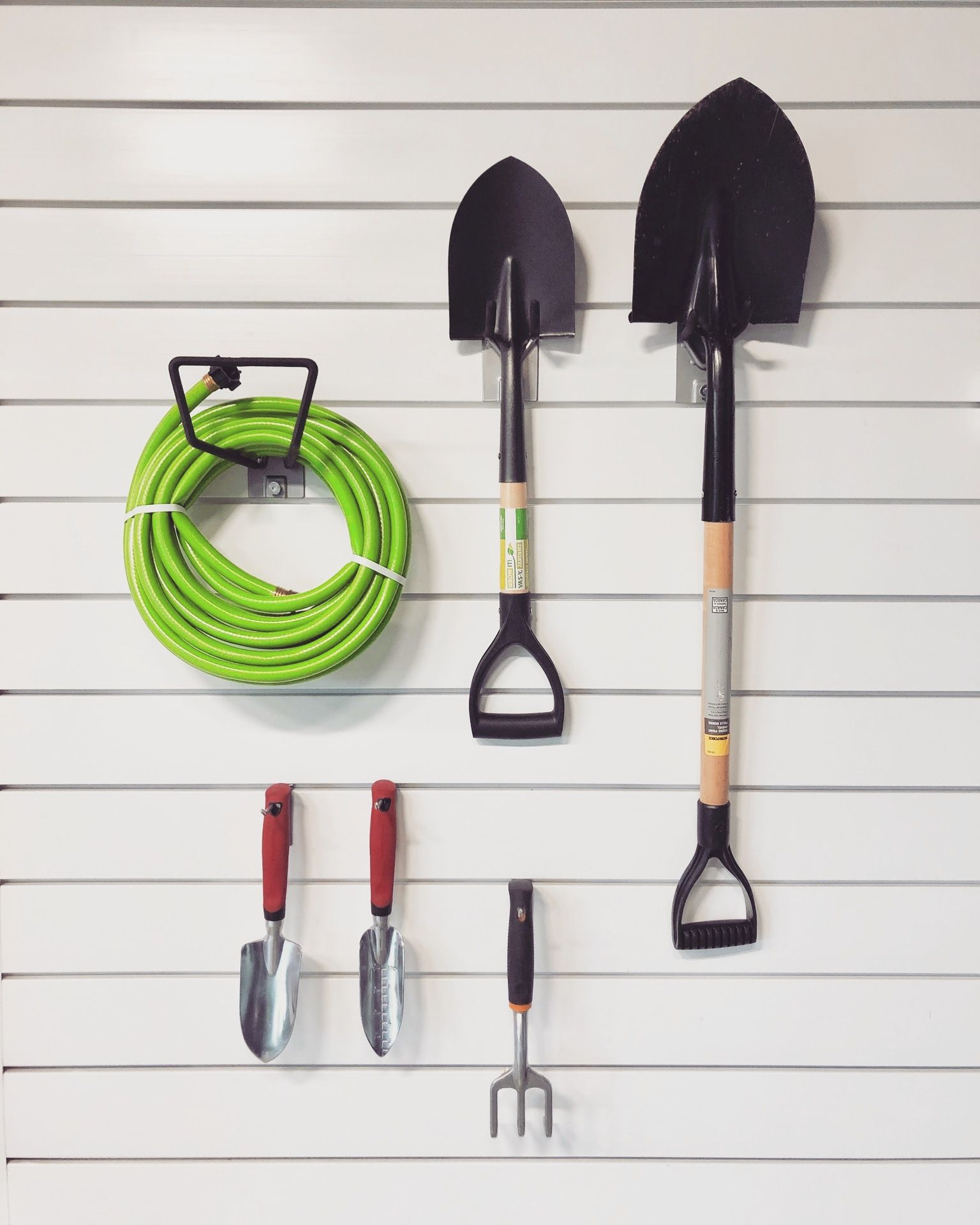 Hose Ain T Loyal Proslat Is May Savings Event On Now Garden Tool Organization Slat Wall Garden Tools