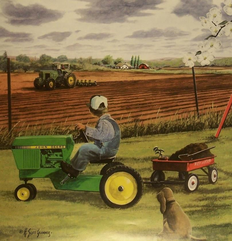Girly John Deere Paintings : John deere art google search pinterest tractor