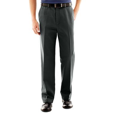 Haggar Work To Weekend No Iron Pants Jcpenney Size 44 30 Are Pleats Out In Out I Like The Black And Olive Colors With Images Iron Pants