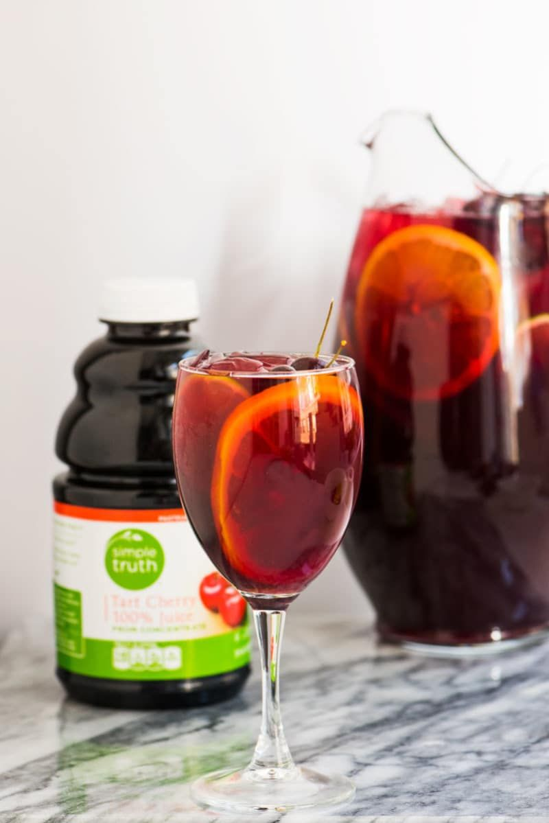 Good Friends Big Batch Of Sangria Best Valentine S Day Ever What You Ll Need 1 Bottle Red Wine Tart Cherry Juice Benefits Cherry Juice Benefits Cherry Tart
