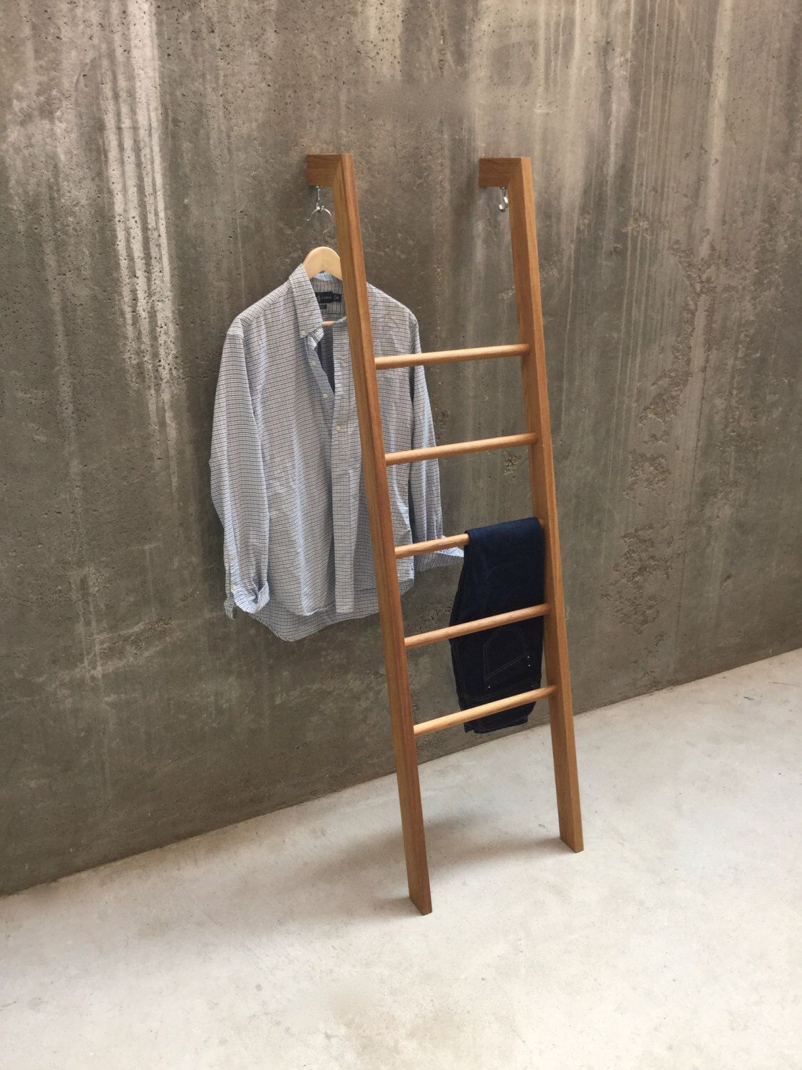 Tb 3 Modern Day Valet Stand Clothes Organiser In Oak Kleiderleiter Clothes Ladder Towel Ladder Handtuchhalter Stumme Diener Clothes Valets Diy Clothes Valet Clothing Rack