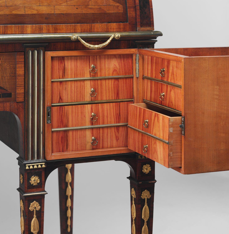 David Roentgen Rolltop Desk German Neuwied Am Rhein The Met Roll Top Desk Art Furniture Transforming Furniture