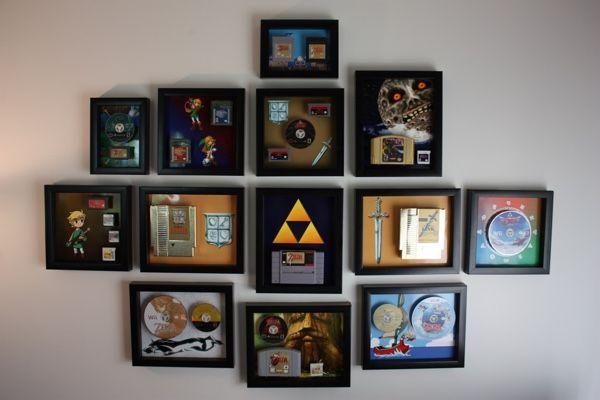 Nice U0027Legend Of Zeldau0027 Game Collection Transformed Into Fancy Wall Decor