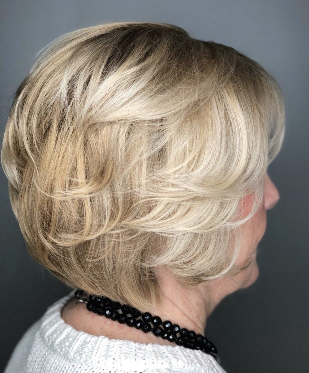 haircuts hairstyles layered bob blonde grey pixie thick bangs cuts feathered adviser layers fashionterest cut ans peinados hadviser coupes courtes