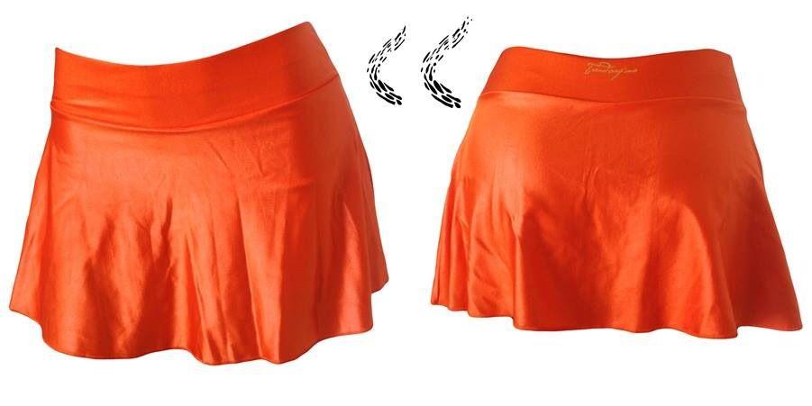 Saia short de cirre laranja