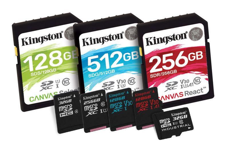 Schede di memoria SD Kingston