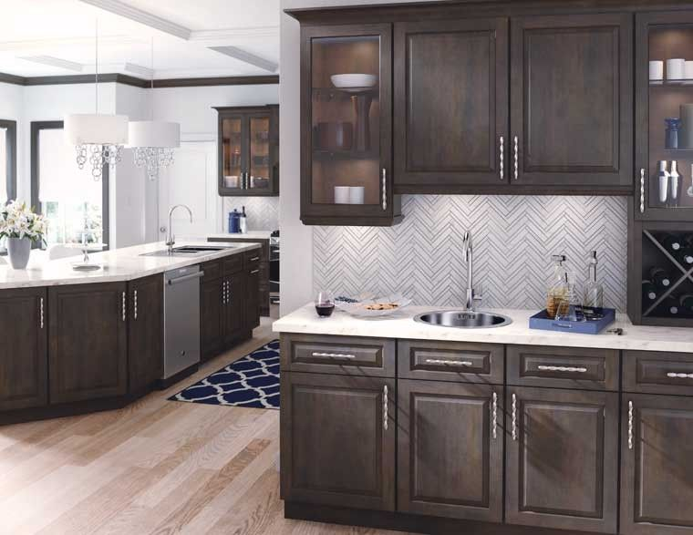 Starmark Cabinetry Staining Cabinets Stained Kitchen Cabinets Custom Kitchen Cabinets