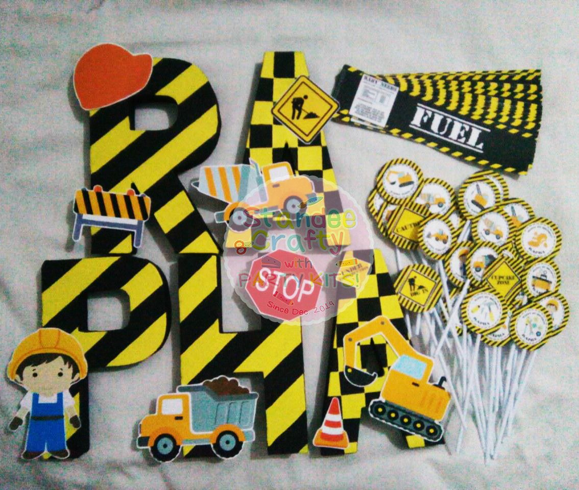 Pin by Standee Crafty on Construction Theme Letter Standee and