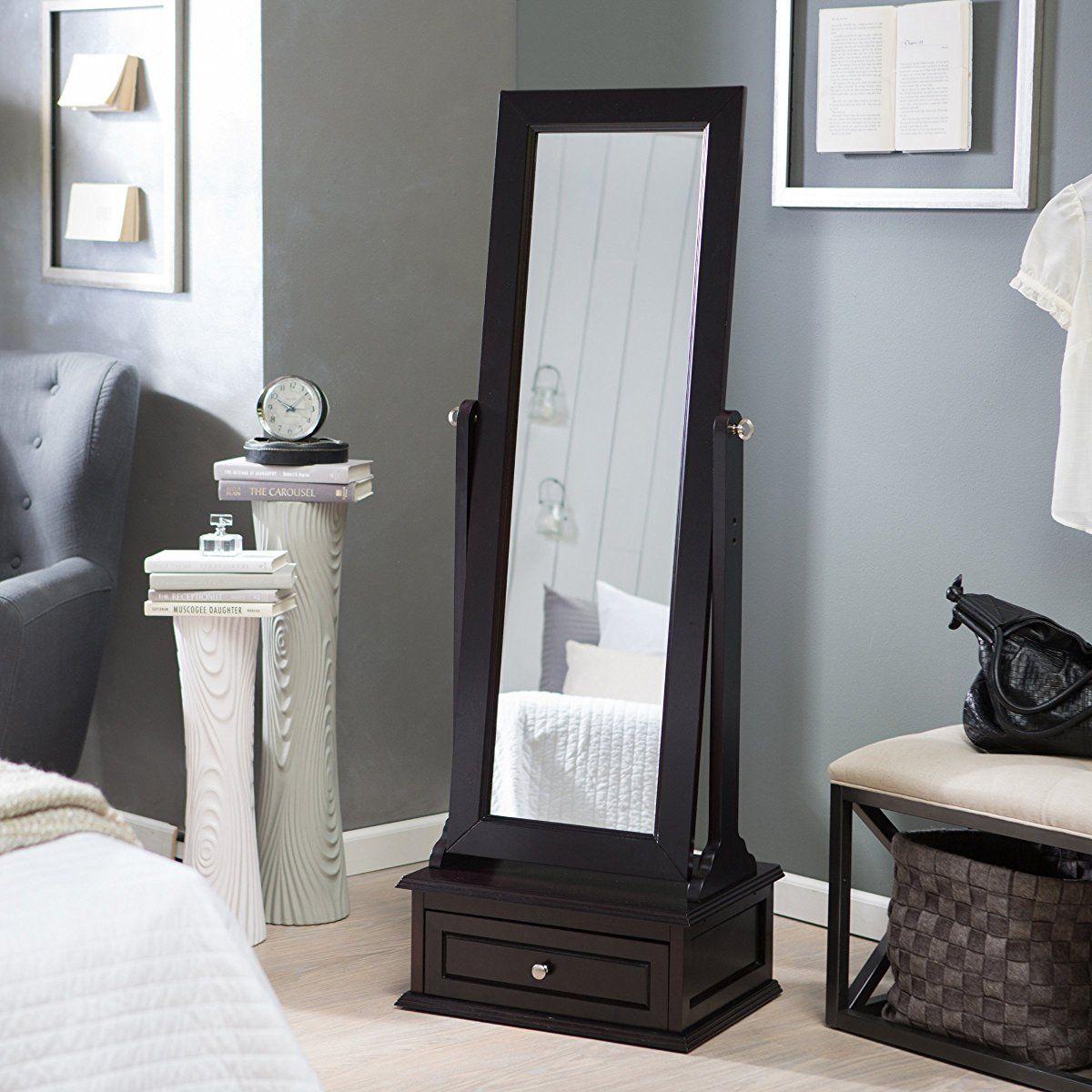 Premium Cheval Floor Mirror - Full Length Standing Dressing Grooming ...