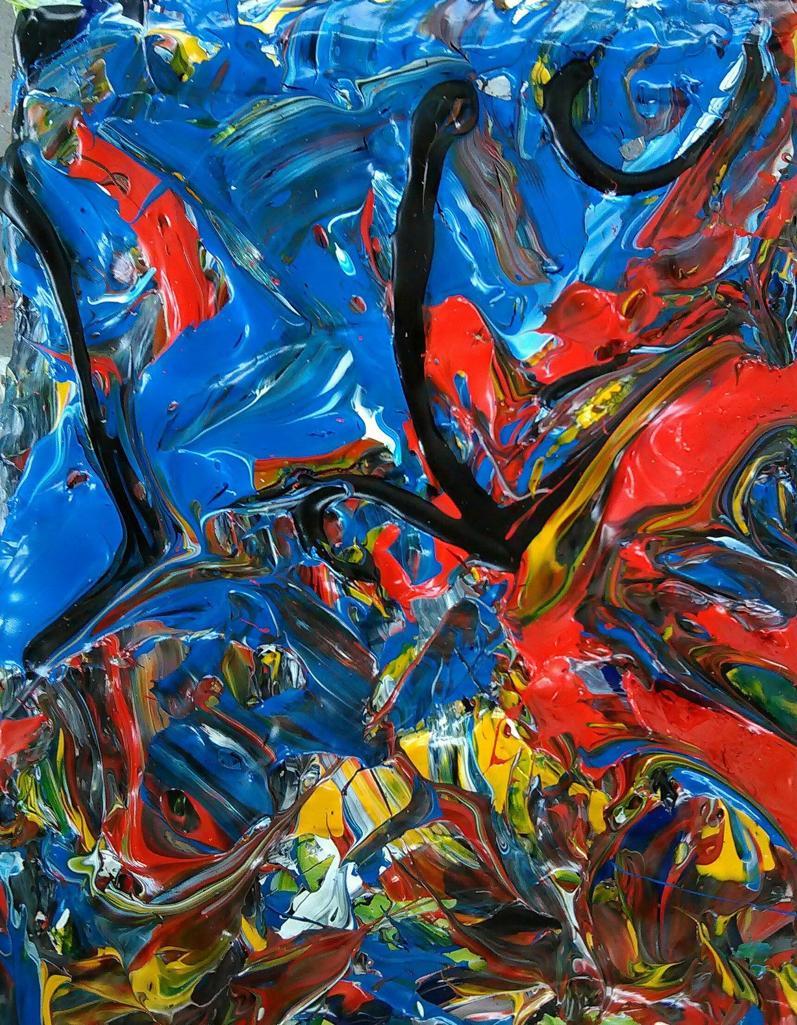 A lovely abstract piece from Flickr, source - https://flic.kr/p/Hnb72L  #art #painting #abstract #modern #flickr