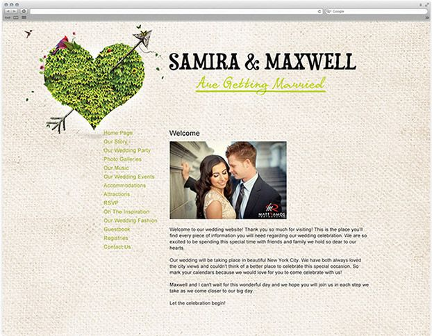 Creative Wedding Website