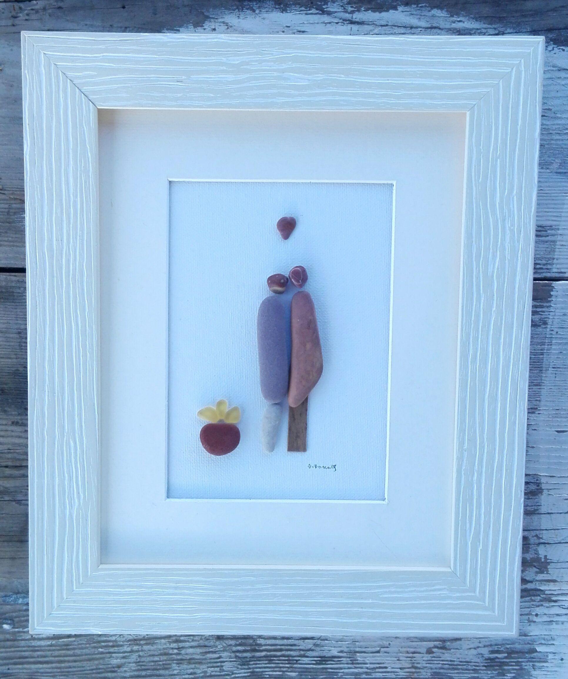 Couple pebble artcouple unique giftromantic couple gift