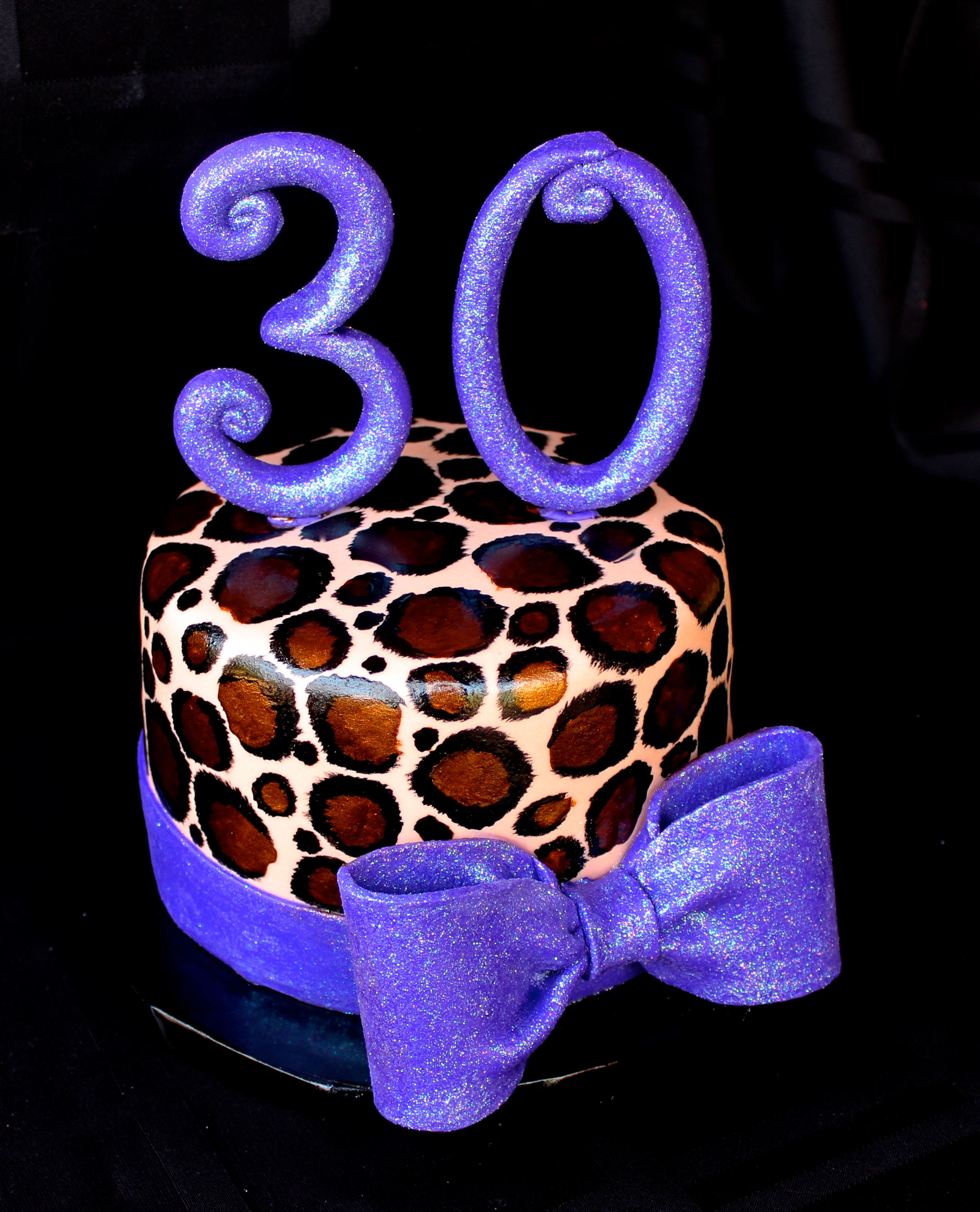 Leopard cake  www.cuteologyshop.com For my 30th. But red instead of purple!!!
