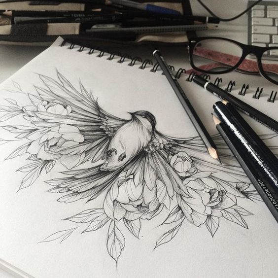 111 Insanely Creative Cool Things To Draw Today Homesthetics Inspiring Ideas For Your Home Colour Tattoo Blossom Tattoo Tattoos