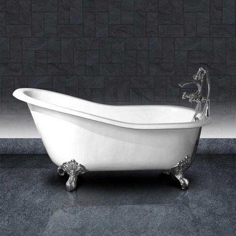 baignoire en fonte petite taille ashford 138 cm blanche et