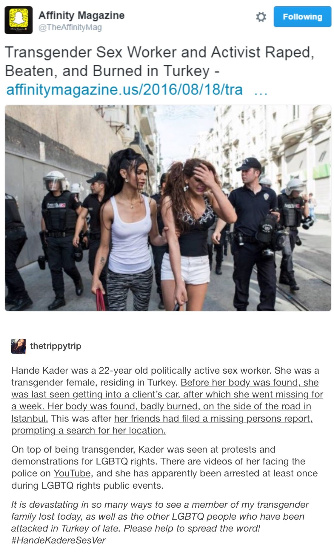Photo of The shocking murder of trans activist Hande Kader says much about Turkey today
