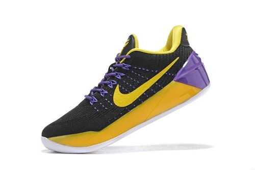 How To Buy 2018 Big Boys Kobe AD Lakers Color Black Gold Purple For Women  Basketball 5b623261c3