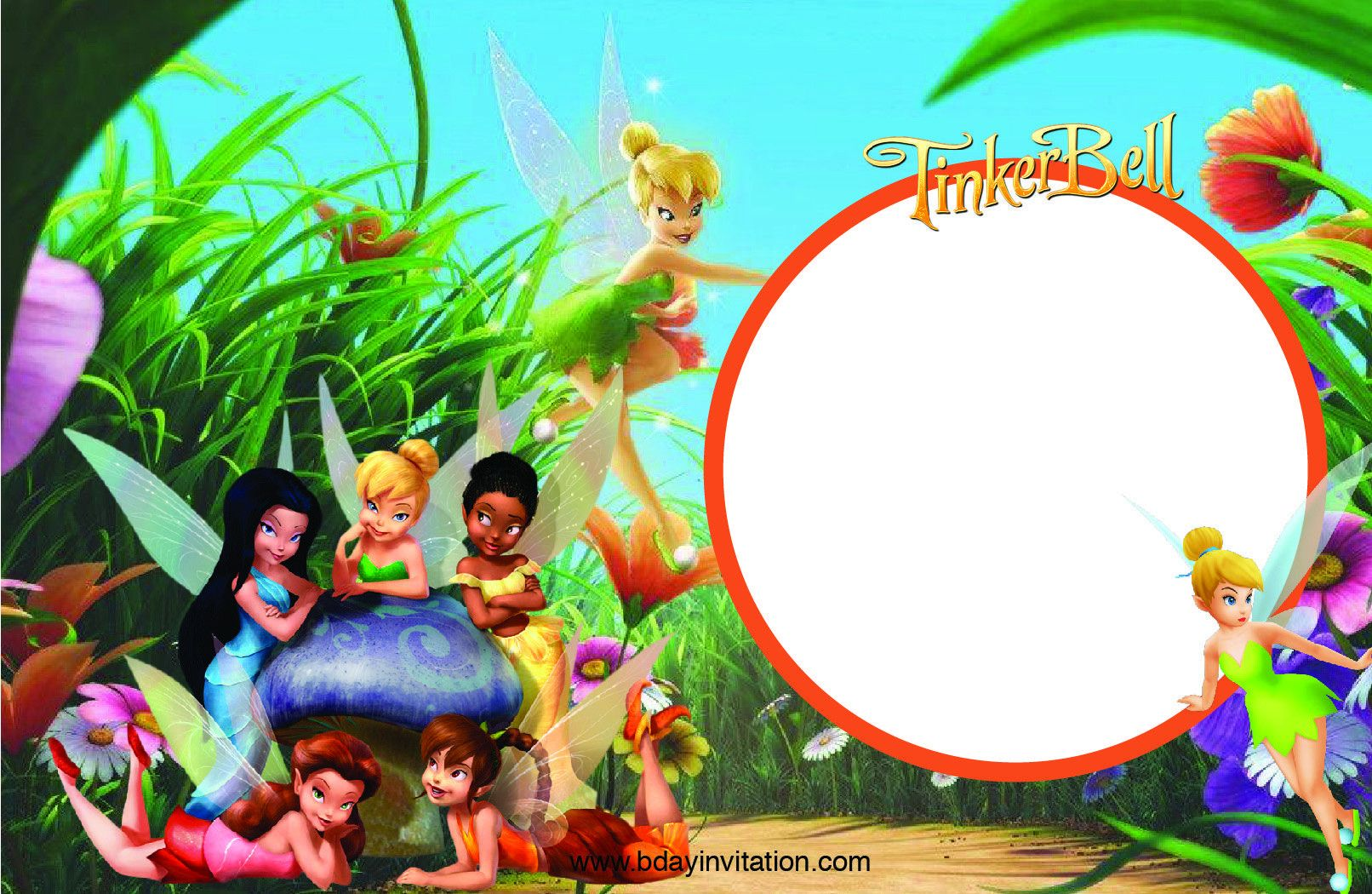Tinkerbell Invitation Template Free Beautiful Awesome Free Printable Disney Tinkerbell Birthday Inv Tinkerbell Invitations Tinkerbell Free Invitation Templates