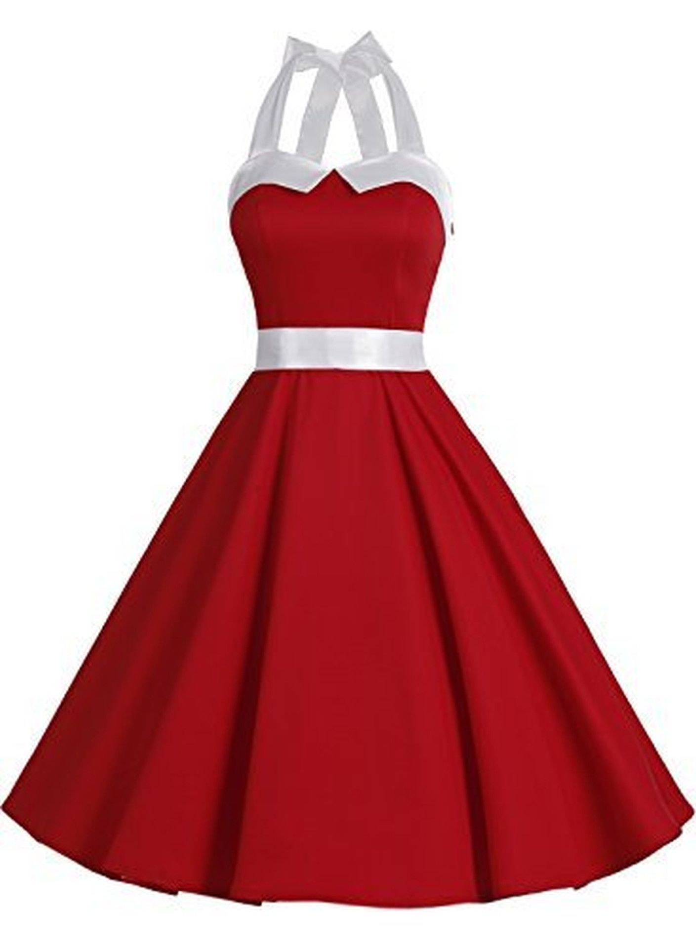 Vintage polka dot retro cocktail prom dresses us us with