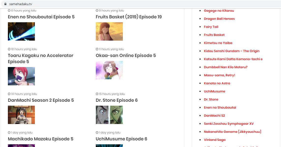Samehadaku.tvadalah salah satu website download anime yang