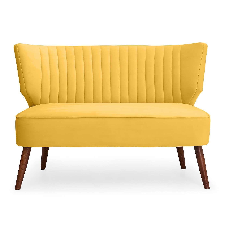 Eva 2 Seater Cocktail Sofa Yellow Dunelm Elegant Sofa Sofa Dining Table Sofas And Chairs