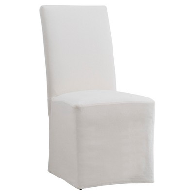 Walton Park Slipcovered Parsons Dining Chair Cream 2 in Set - Inspire Q, Buff Beige, Durable