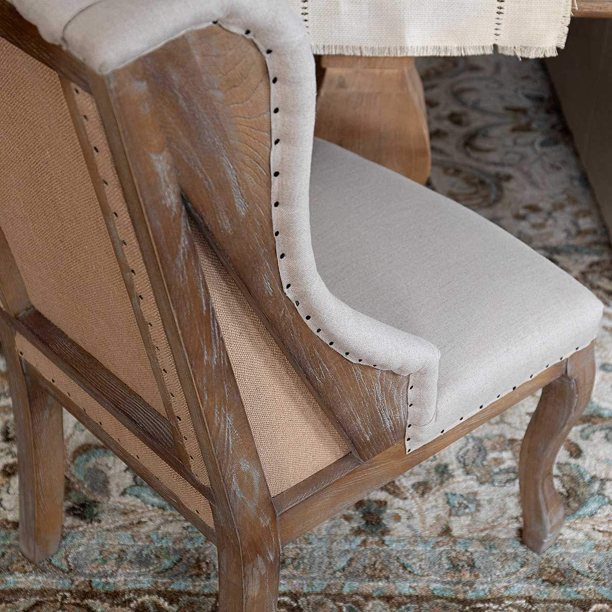Florentine Wingback Dining Chair Mango Wood Dining Table