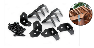 """The Laredo Sunset 2"""" Rafter Clips are now offered at HHDepot, The Deck Supply People!"""