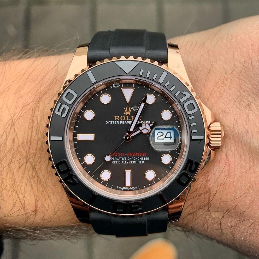 Rolex New Yacht Master 40mm Rose Gold Mens Watch 126655 In 2020 Gold Watch Men Watches For Men Mens Rose Gold Watch