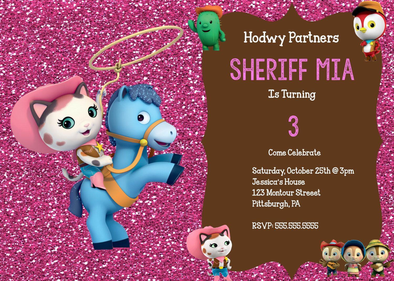 Sheriff Callie S Wild Wild West Birthday Invitation By