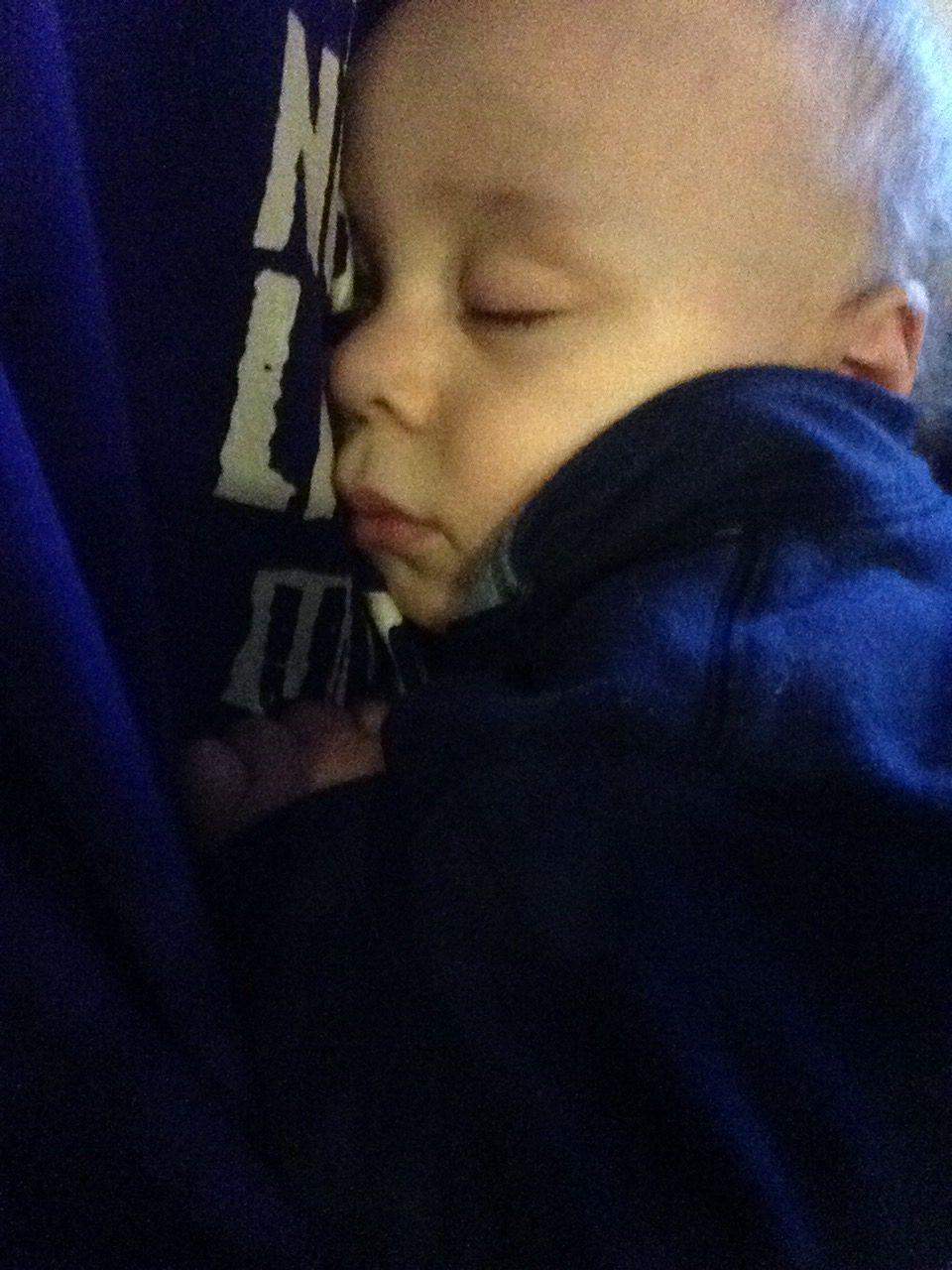 Now asleep w a full belly