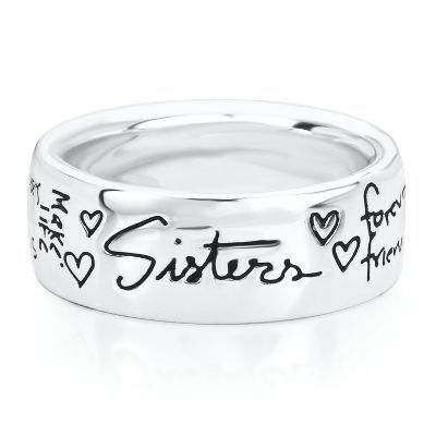 Sterling Silver Sister Ring Many Sizes 1cxiO8