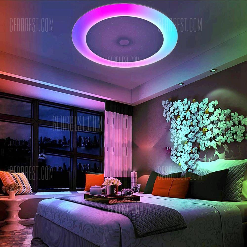 Smart Bluetooth Music Color Changing Ceiling Light What A Way To Set The Ambiance Affiliate Ceiling Lights Led Lighting Bedroom Led Bedroom Ceiling Lights