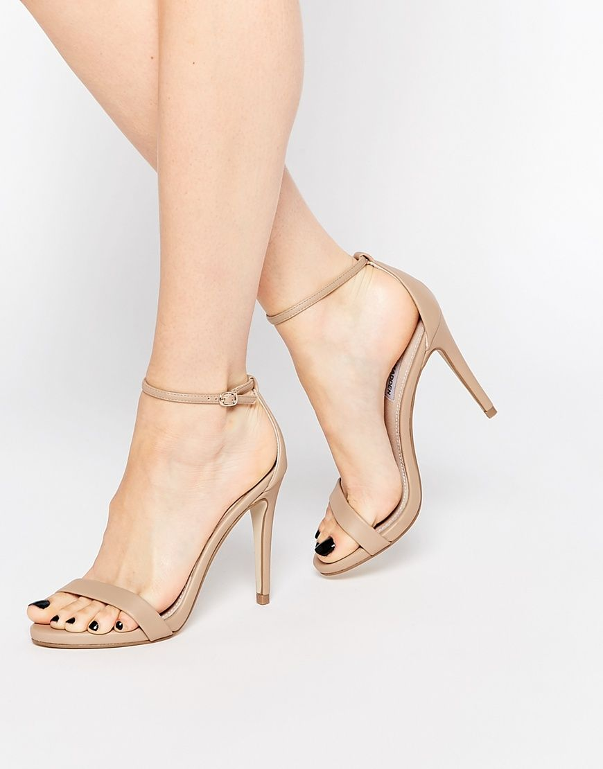 25408a71886 Image 1 of Steve Madden Stecy Nude Barely There Heeled Sandals
