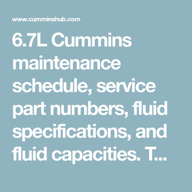 Pin On Cummins Service Info
