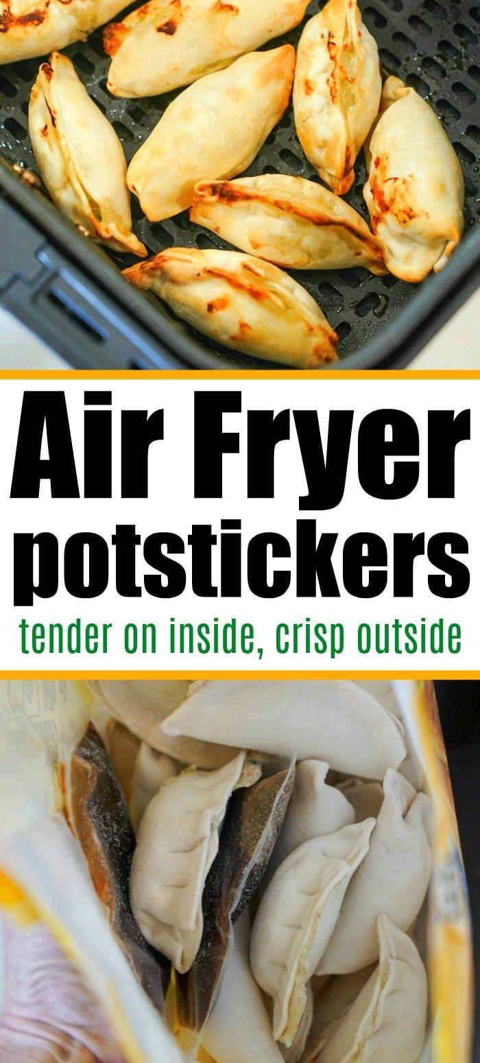 Frozen potstickers in air fryer are the best! Tender meat