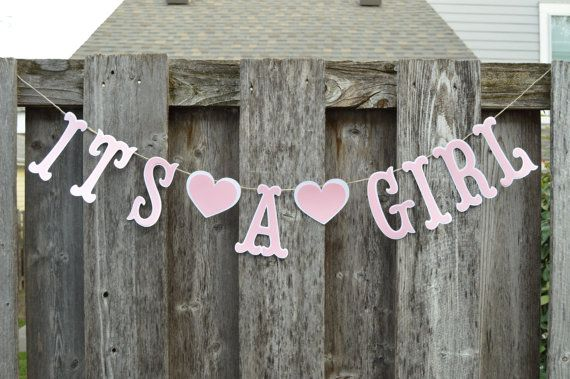 It S A Girl Banner Baby Shower Banner Gender Reveal Banner Baby Girl Banner In 2020 Baby Shower Banner Baby Girl Banner Its A Girl Banner