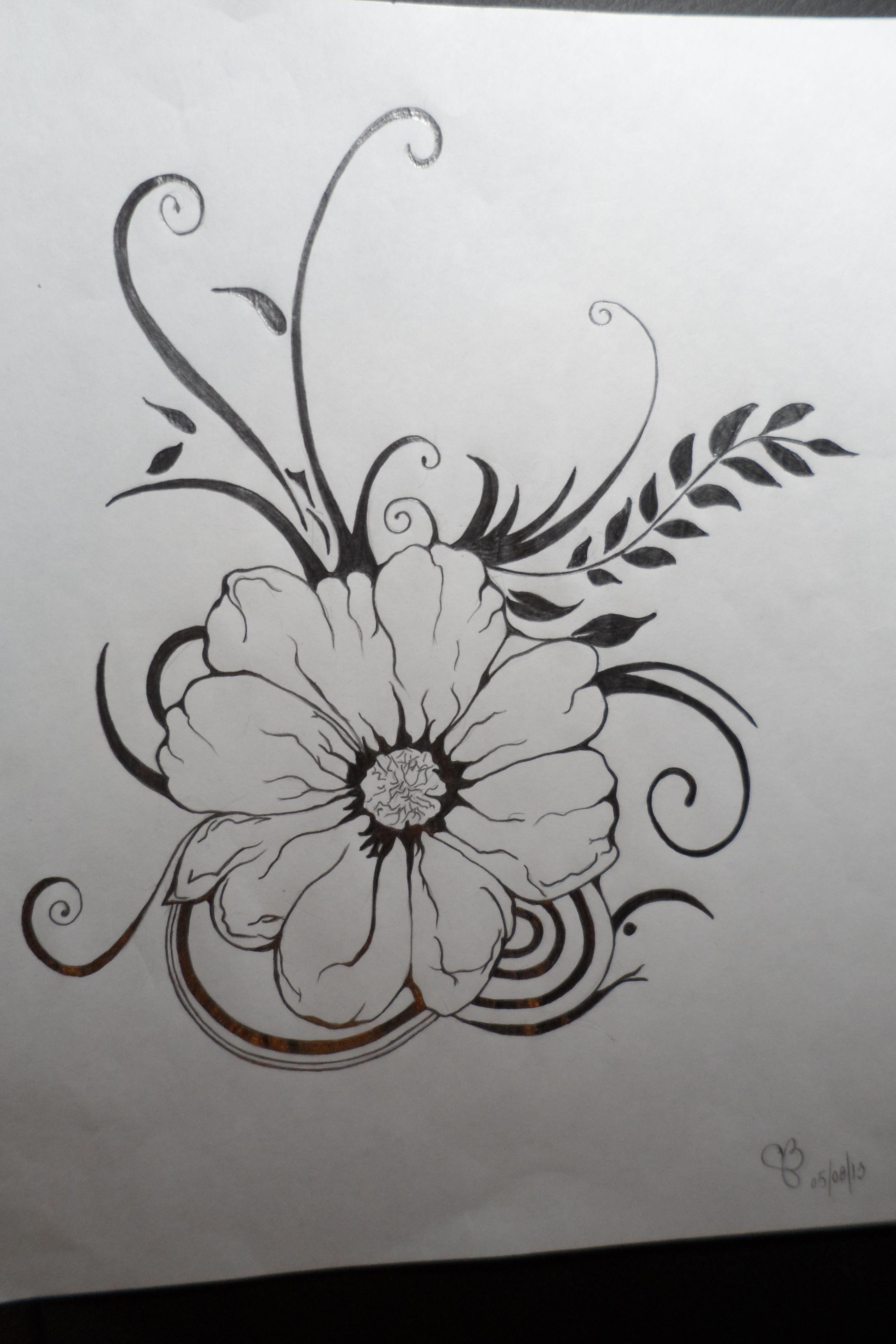 Fleurs dessin pinterest - Belle fleur a dessiner ...