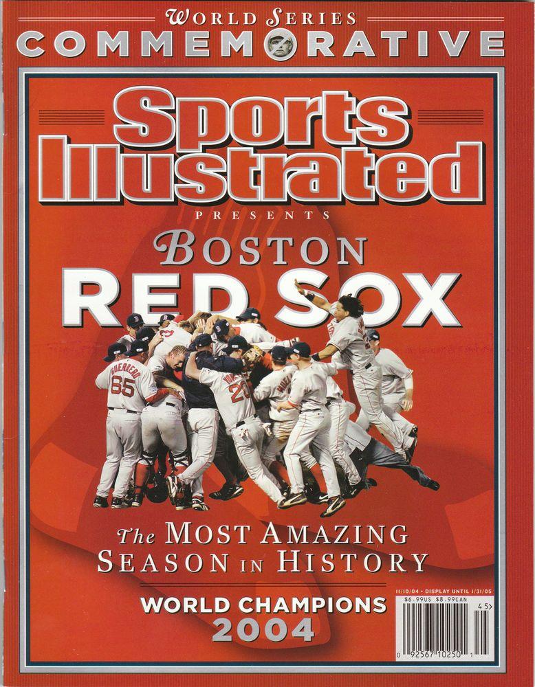 2004 BOSTON RED SOX SPORTS ILLUSTRATED COMMEMORATIVE WORLD SERIES CHAMPIONS SI #BostonRedSox