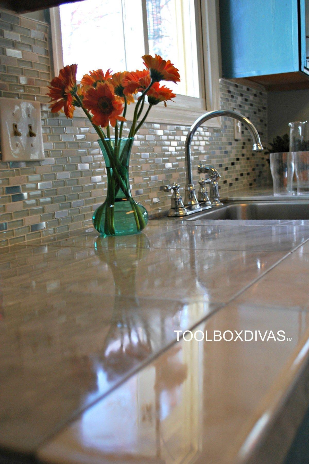 Diy marble countertop hack toolbox divas tile over