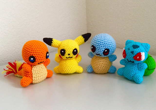 Pokemon Crochet Pokeblob Starter Set Pikachu Bulbasaur | Etsy | 452x640