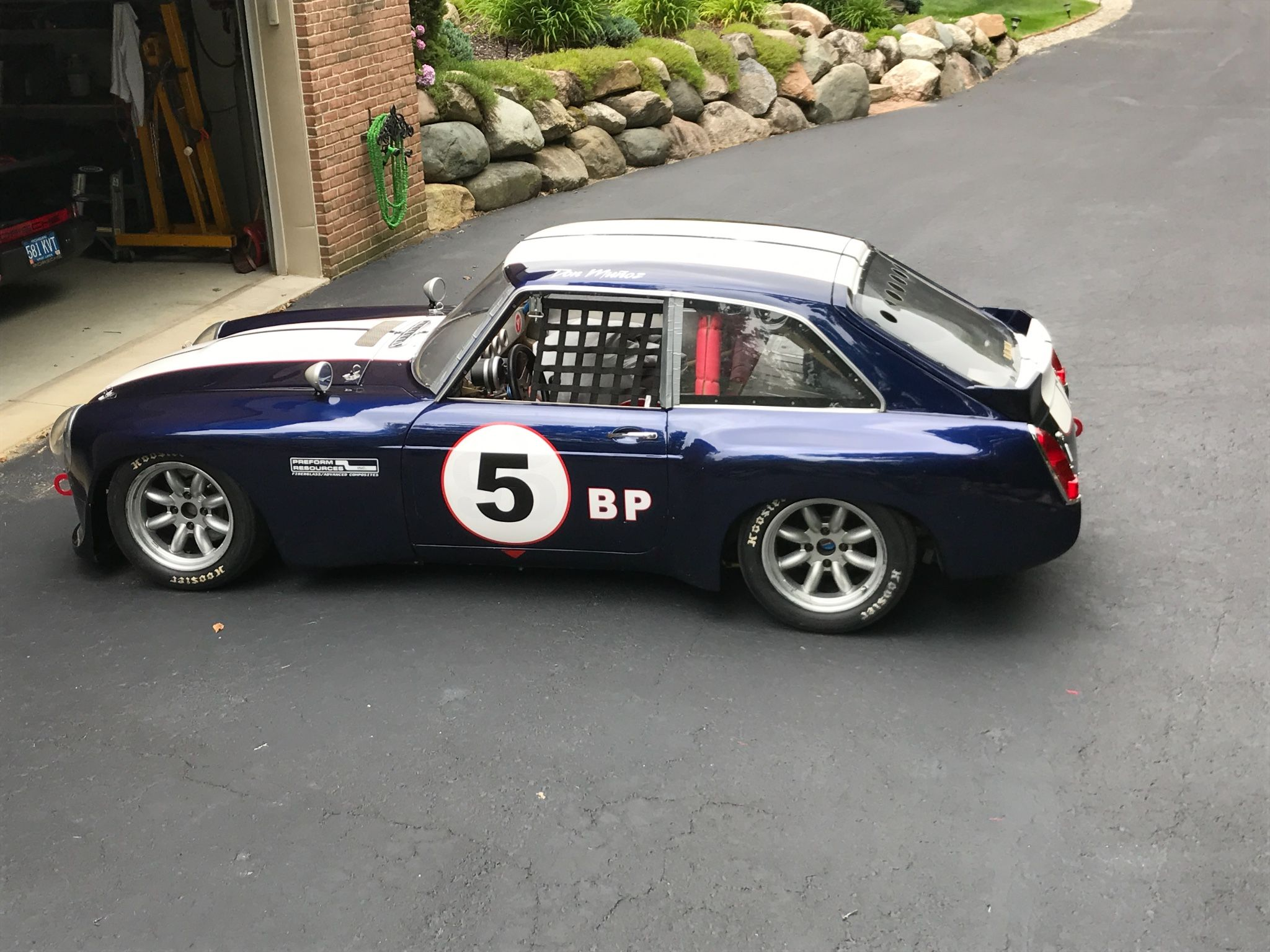 This 1969 MGB GT V8 is a race-prepped example with just 8 hours of ...