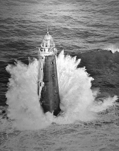 Blizzard Rams New England  1978 Pulitzer Prize, Feature Photography, Staff Photographers of Boston Herald American  The lighthouse is 114 feet high, which means that foam is spraying 100 feet into the air, propelled upward by a raging sea that sinks ships and floods towns up and down the coast.