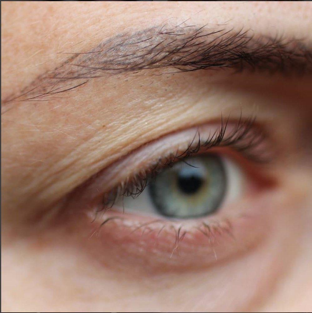 Augenlid schminken hängendes Hängendes Augenlid
