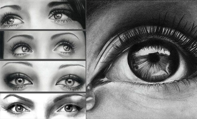 how to draw the human eye easy